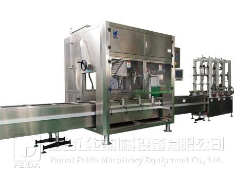 全自动称重式中包装食用油灌装机
